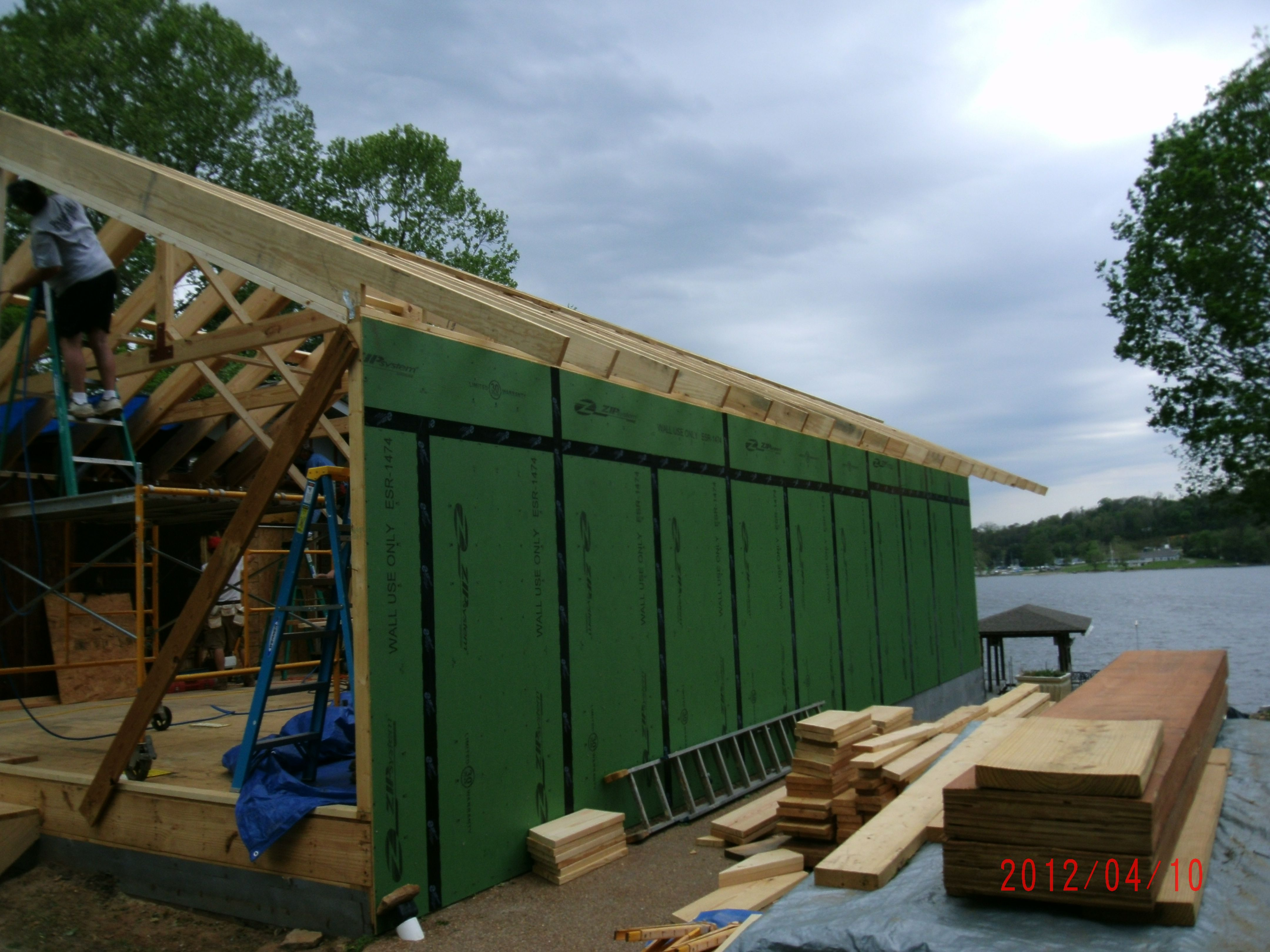 Home Addition - Intermediate Phase of Construction