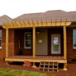 custom home and porch